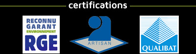 Certifications : RGE / Qualibat / Artisan